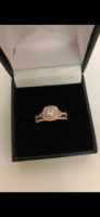 Diamond and Rose Gold Ring Set