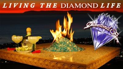 Diamond Fire Glass